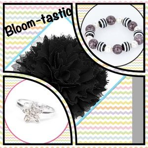 """Other - ❤️New❤️❤️❤️Bloom-tastic"""" Hair Clip & Jewelry Set🖤"""